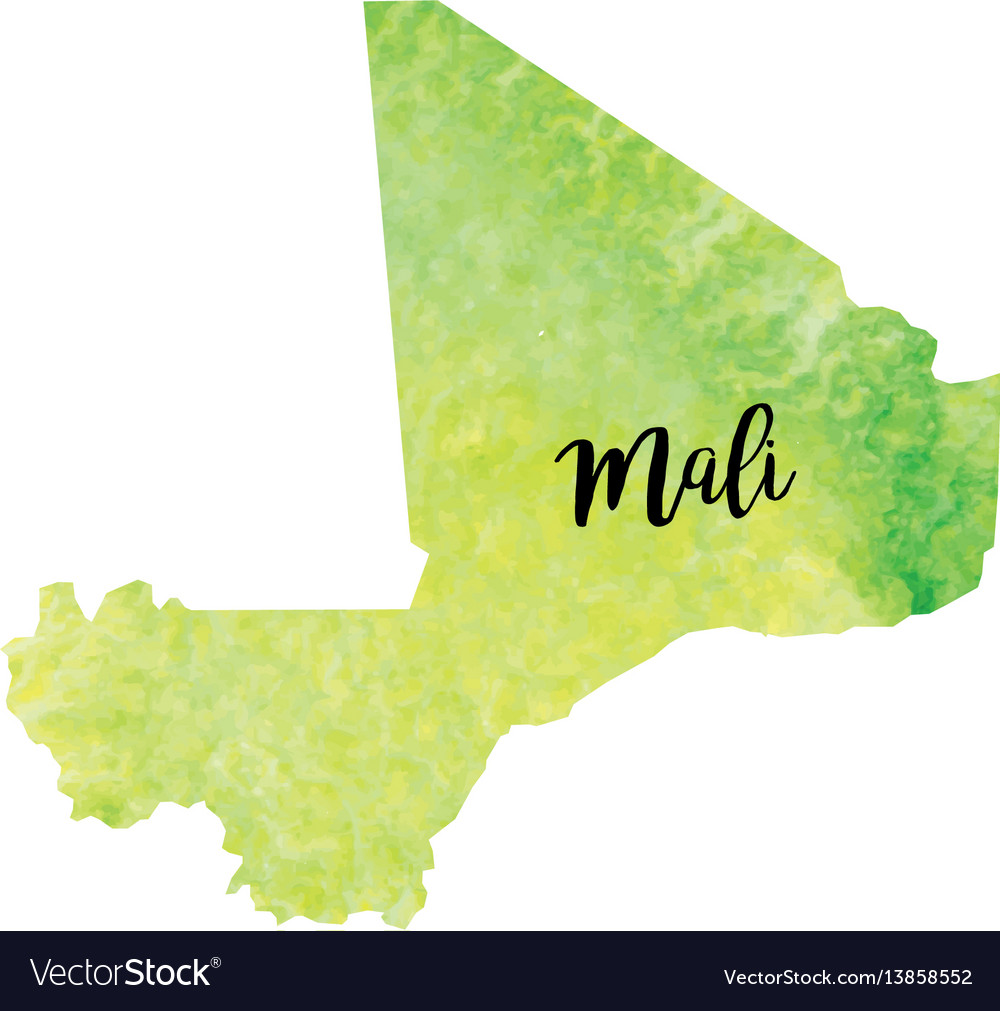 Abstract mali map vector image