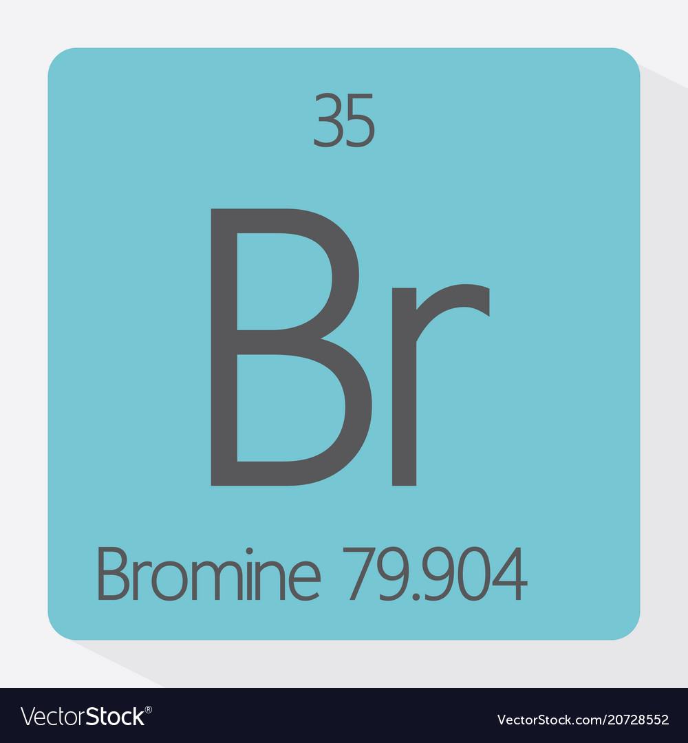 bromine royalty free vector image vectorstock
