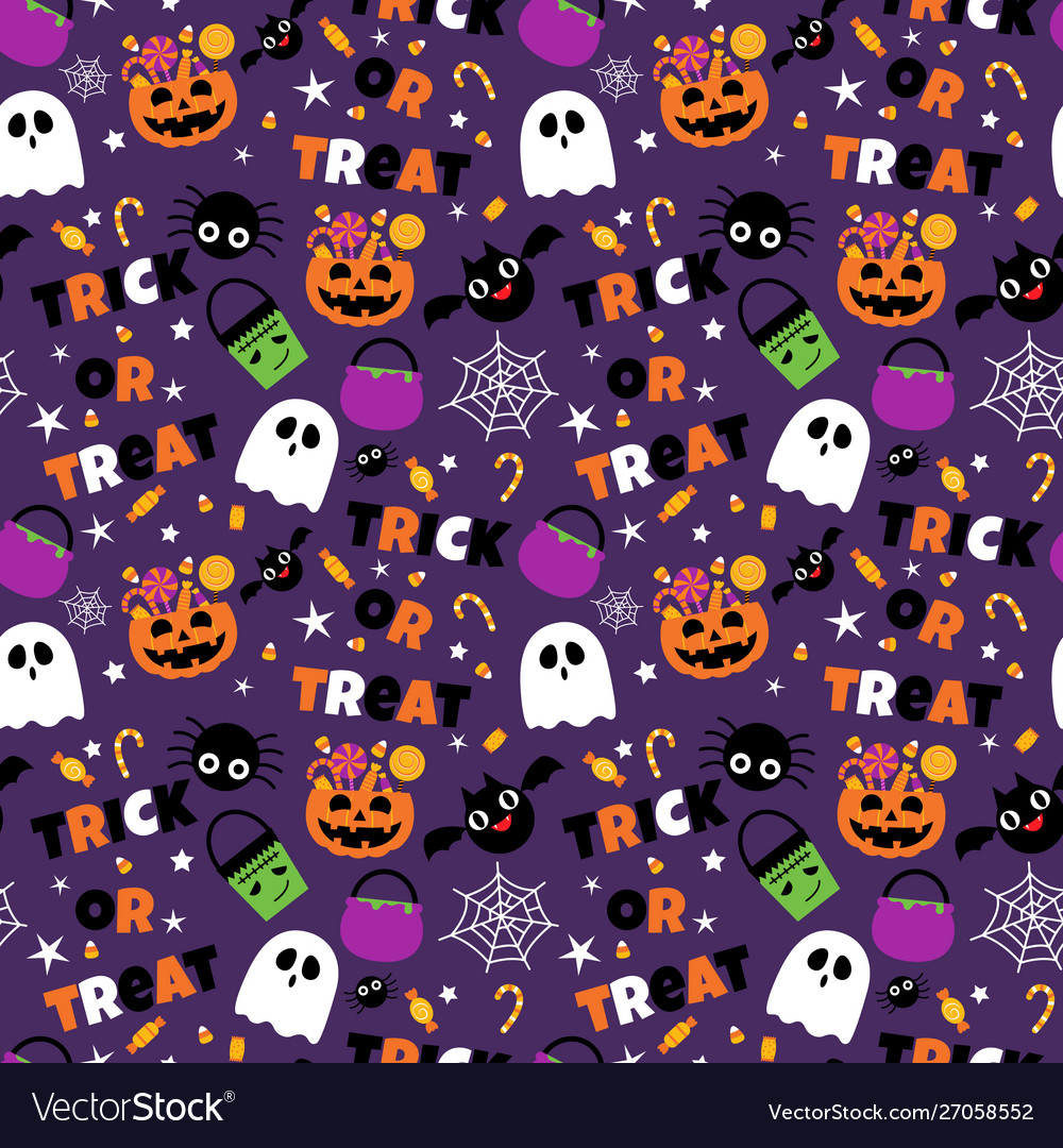 Happy halloween seamless pattern background set