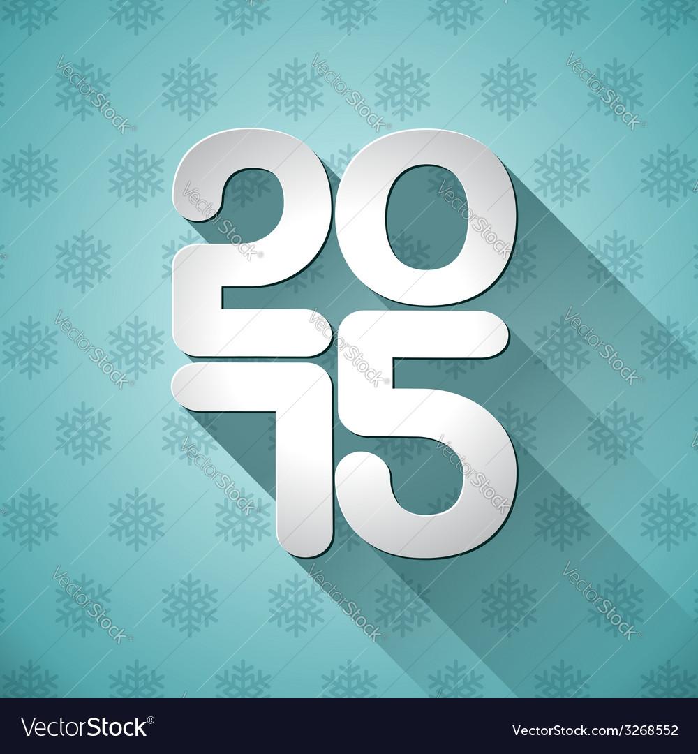 Happy New Year 2015 typographic design