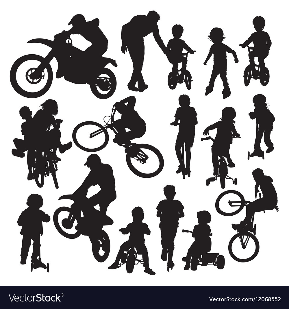Learning Activities and Play Bike Silhouettes