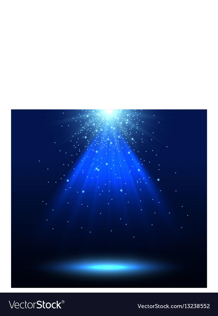 Spotlight background vector image