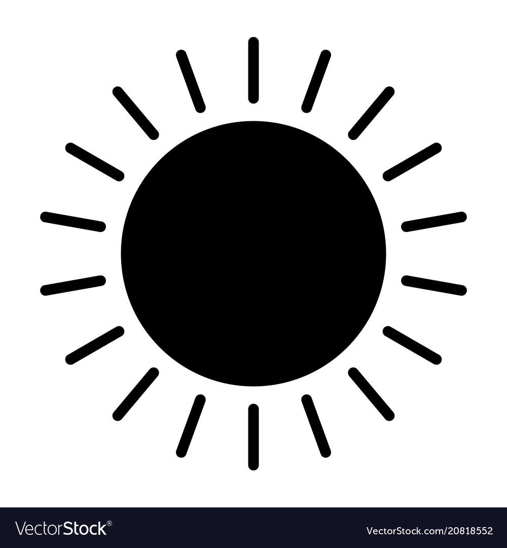 Sun icon simple minimal 96x96 pictogram