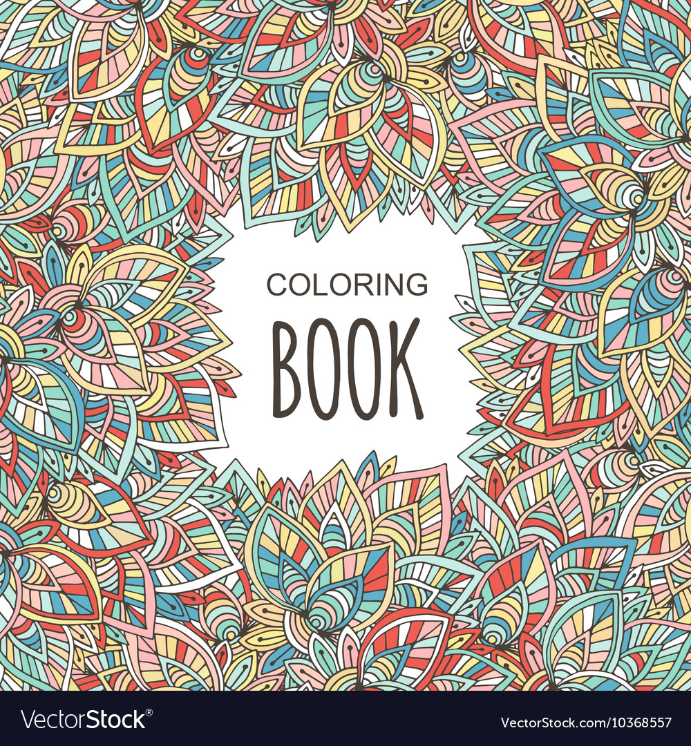 Adult coloring book cover Autumn colorful Vector Image