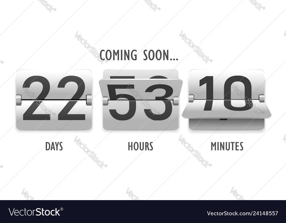 Coming soon countdown mechanical scoreboard