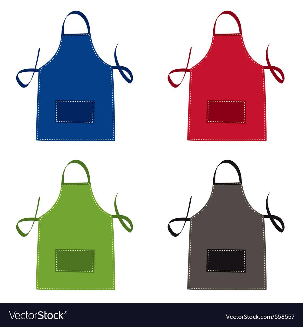 Cooks apron vector image