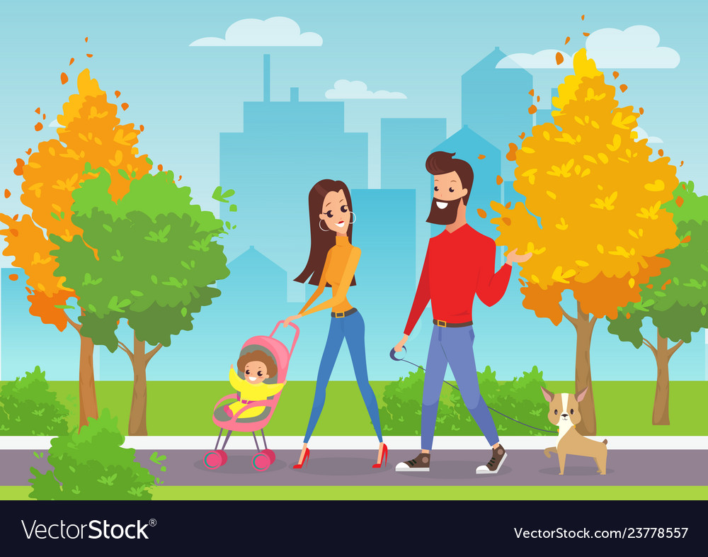 Happy young family with