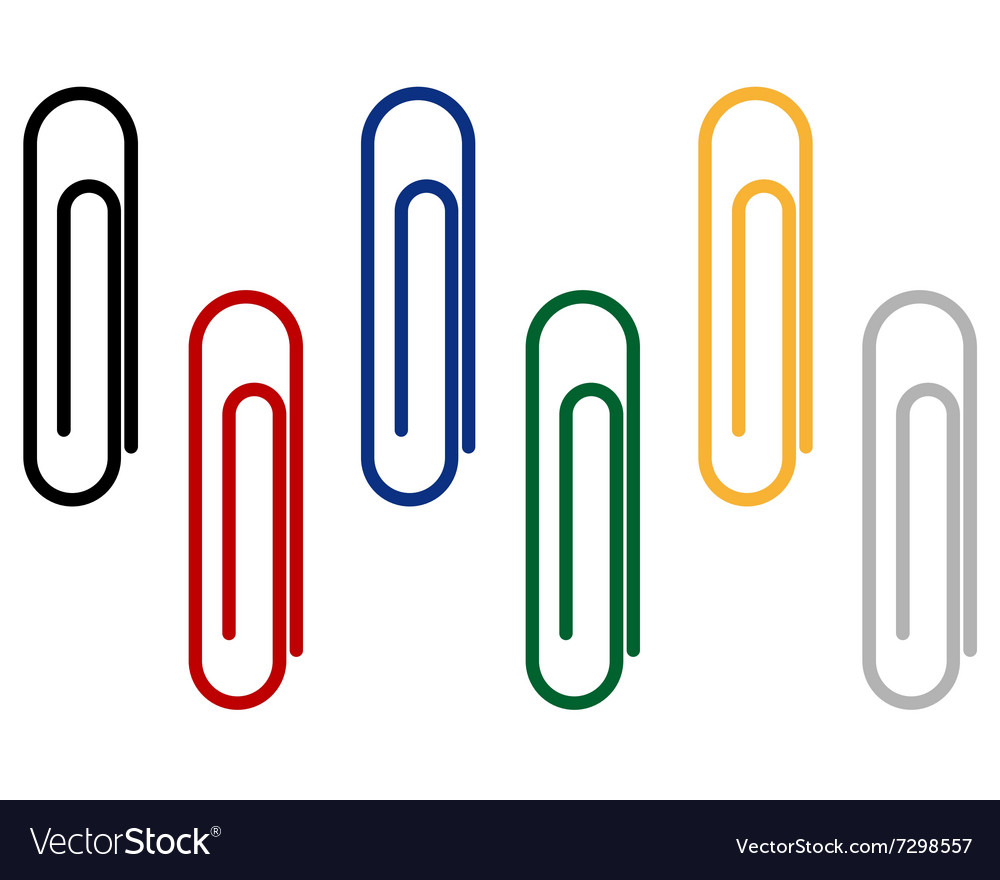 Paper clips for fastening papers