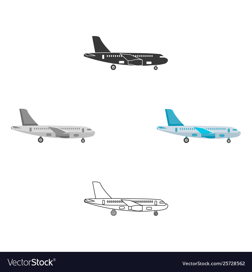Airplane icon for web and