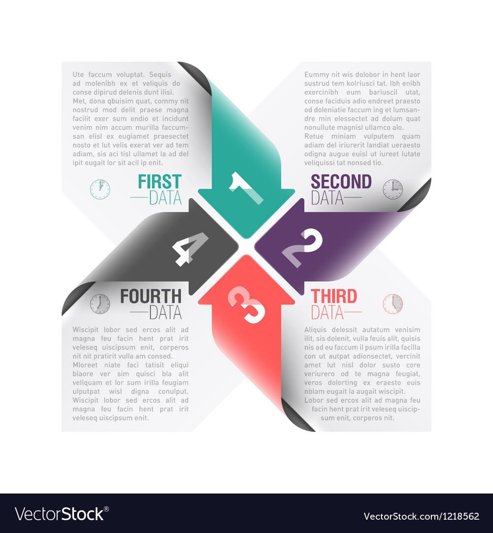 Arrows design template vector image
