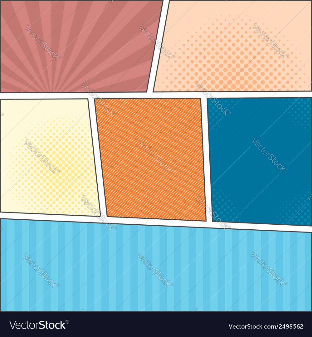 Comics popart layout template