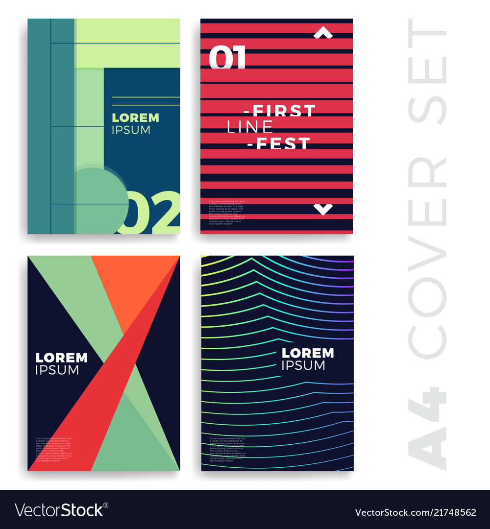 Covers modern abstract design templates set