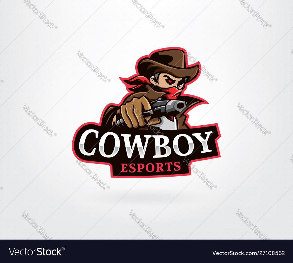 Cowboy mascot logo design