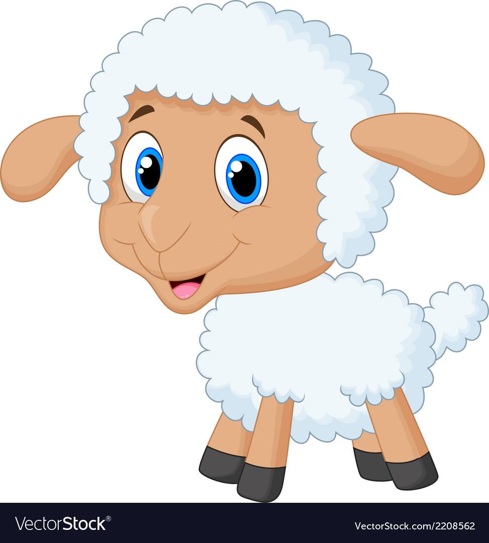 Cute lamb cartoon