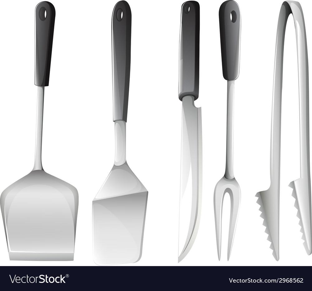 Different cooking utensils vector image