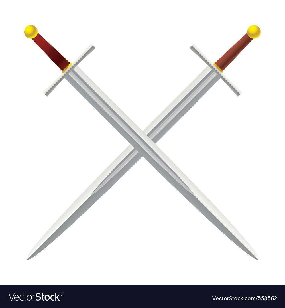 Metal sword vector image