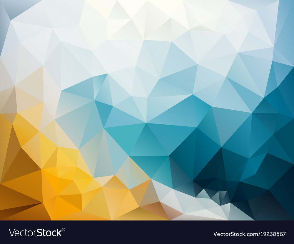 abstract irregular polygon background blue yellow vector image. Black Bedroom Furniture Sets. Home Design Ideas