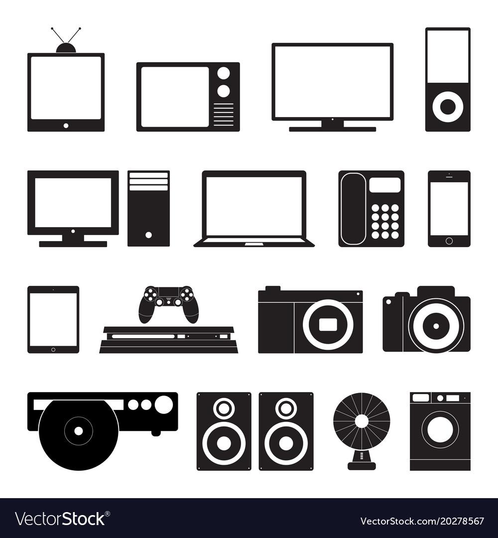 Electronic technology icon set