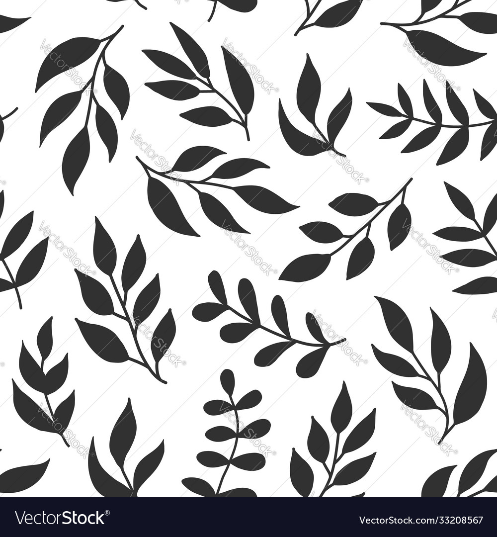 Floral seamless pattern with fern different