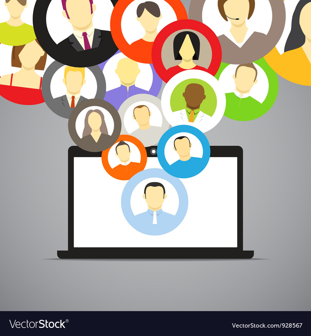 Icons of network accounts vector image