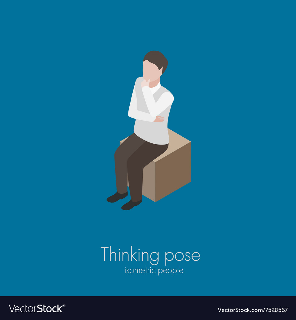 Man sitting on box
