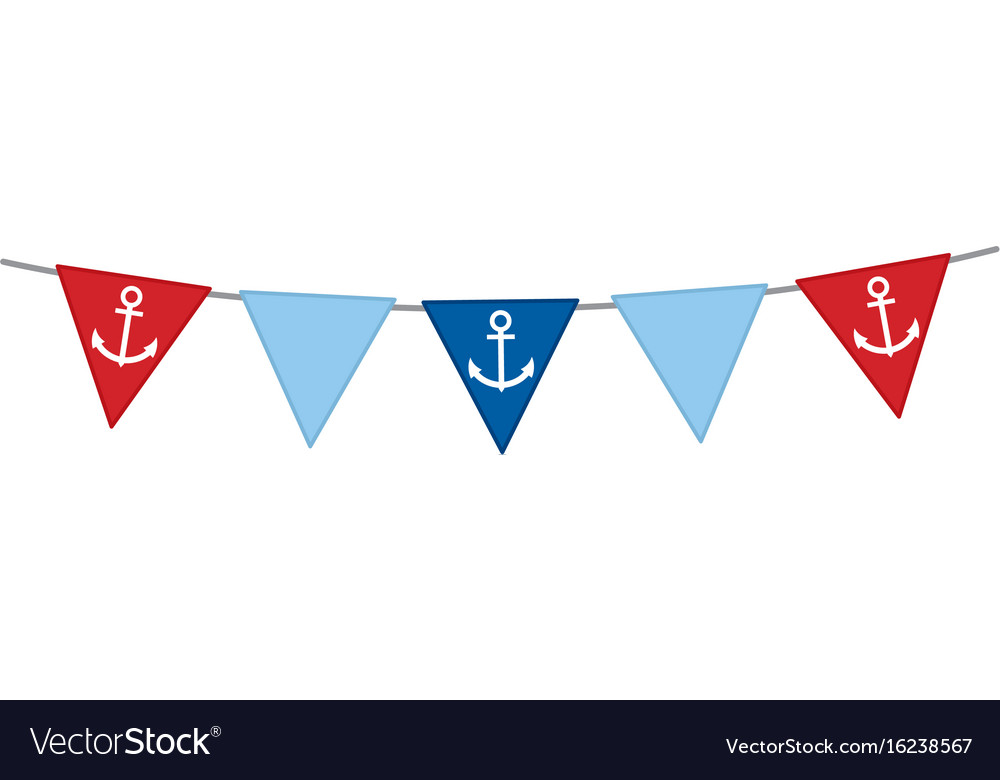 Nautical bunting with anchor