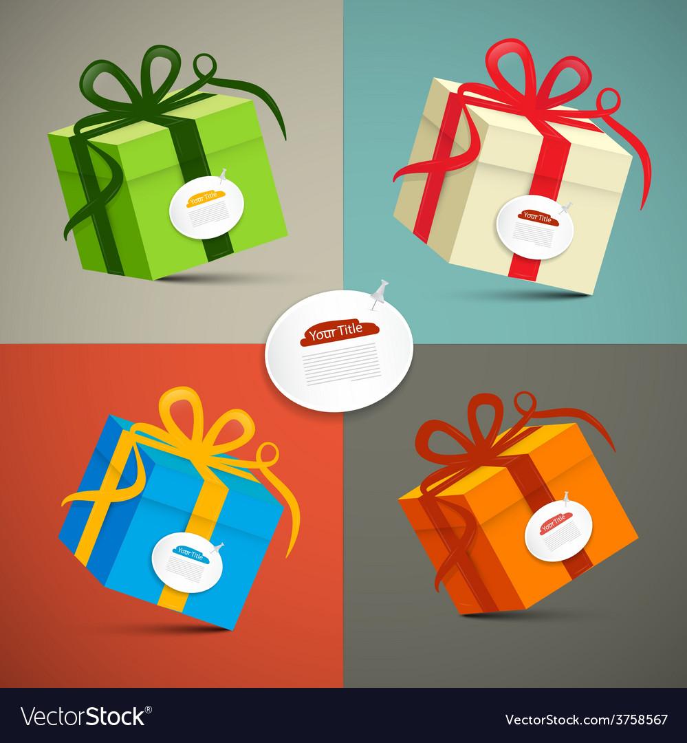 Paper Retro 3d Gift Boxes Set