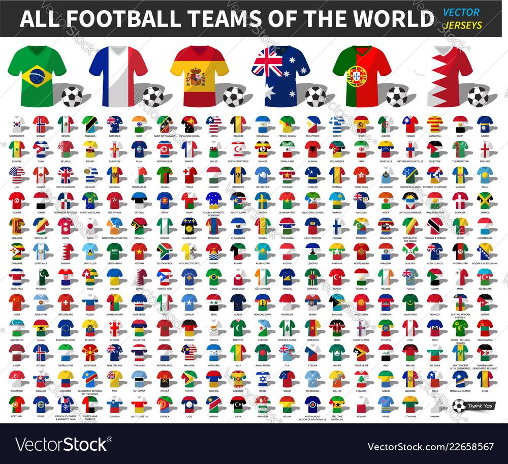 Set of all national football or soccer team