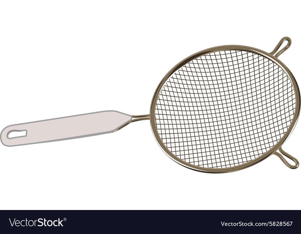 Sieve for draining water for the kitchen vector image