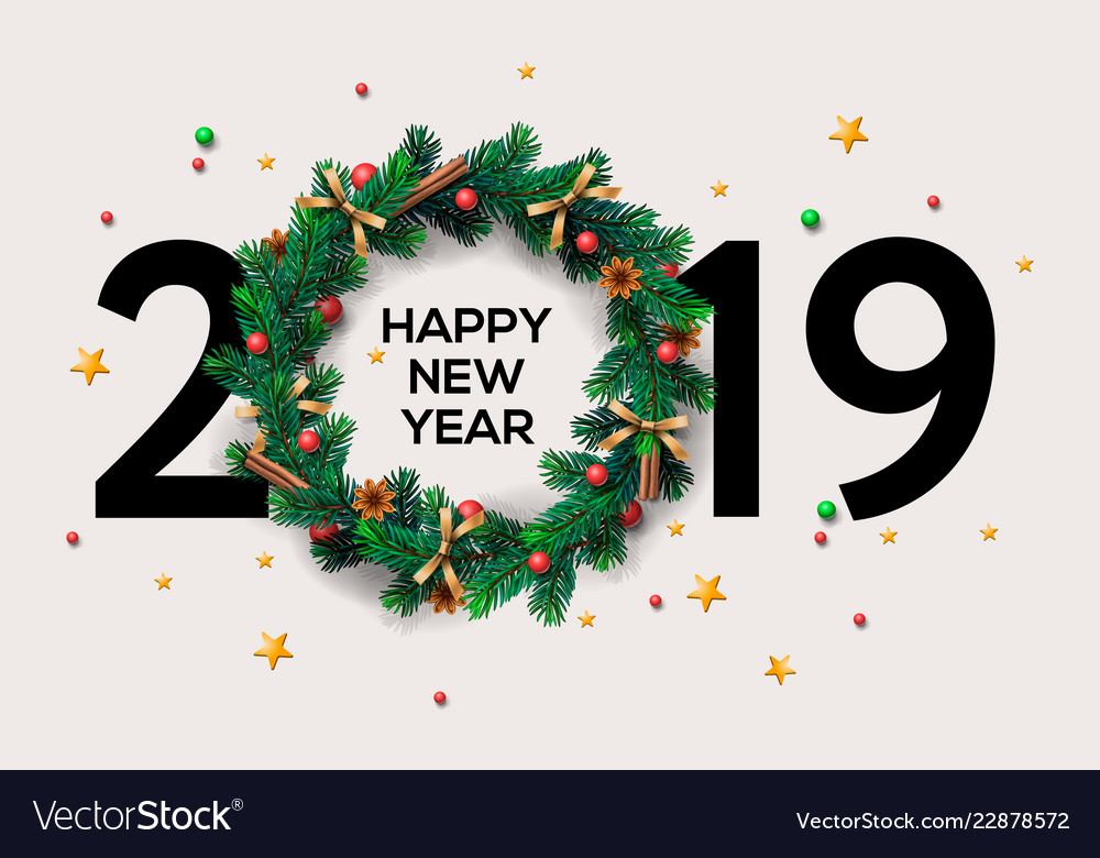 2019 happy new year or christmas background