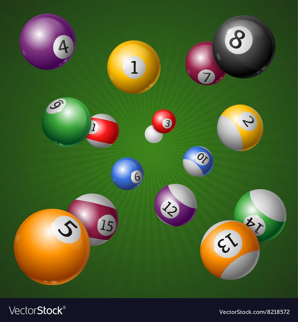 Billiard Balls Background