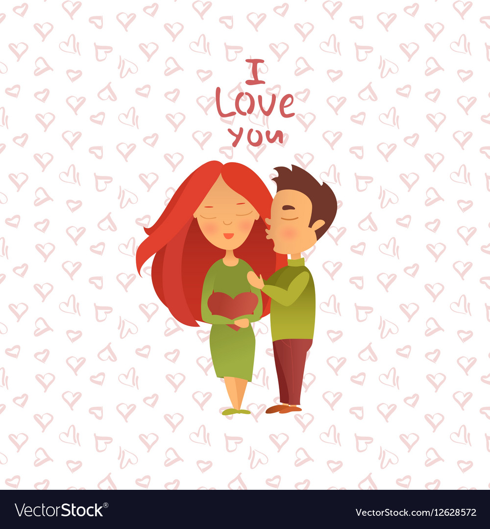 Couple in love 13 vector image