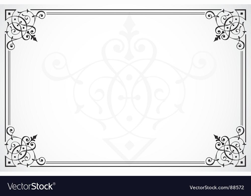 Elegant frame Royalty Free Vector Image - VectorStock