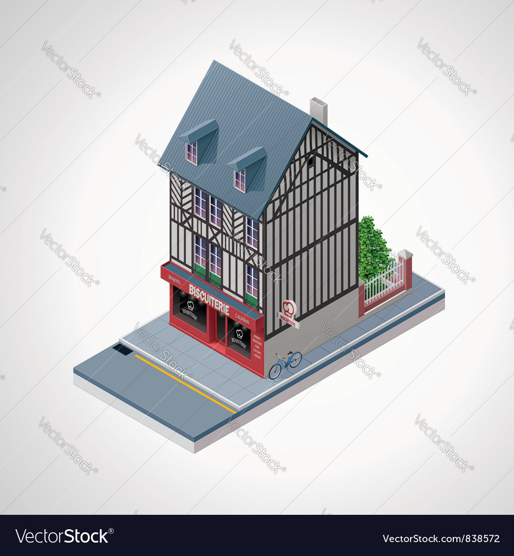 Isometric French cakes vector image