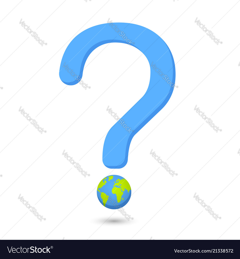 question word with eco globe globe royalty free vector image