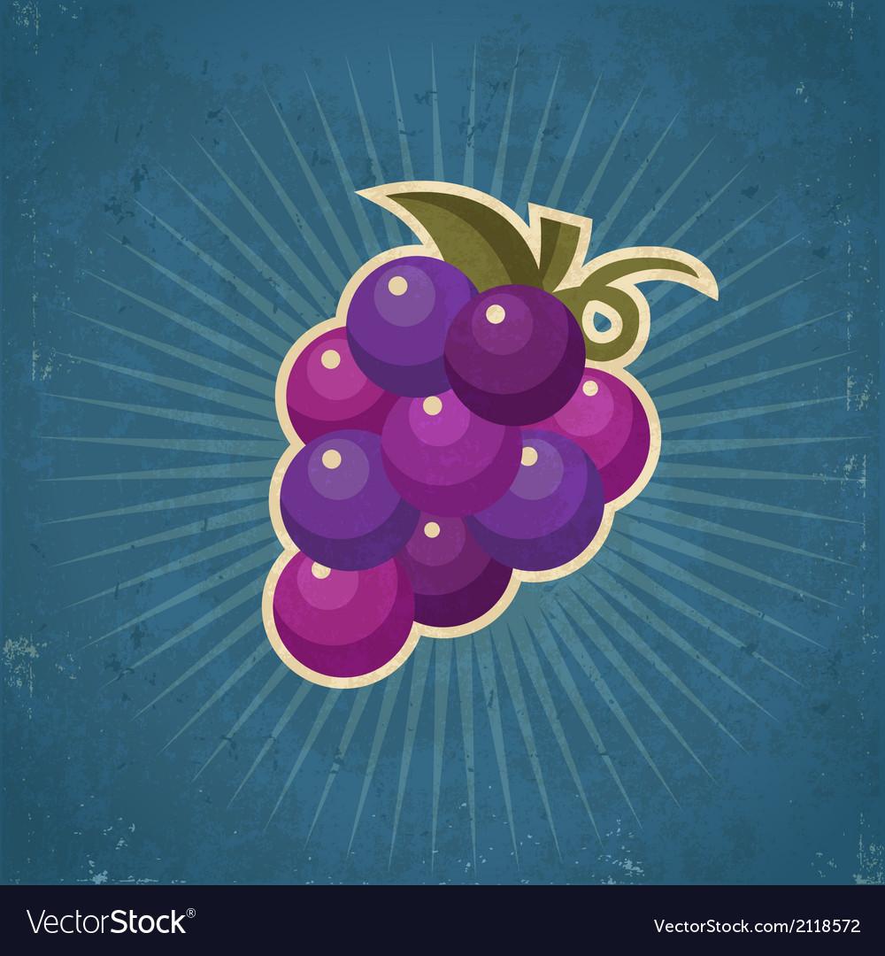 Retro Grape vector image