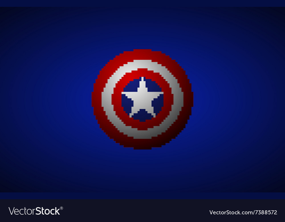 Shield with a star superhero shield comics vector image on VectorStock