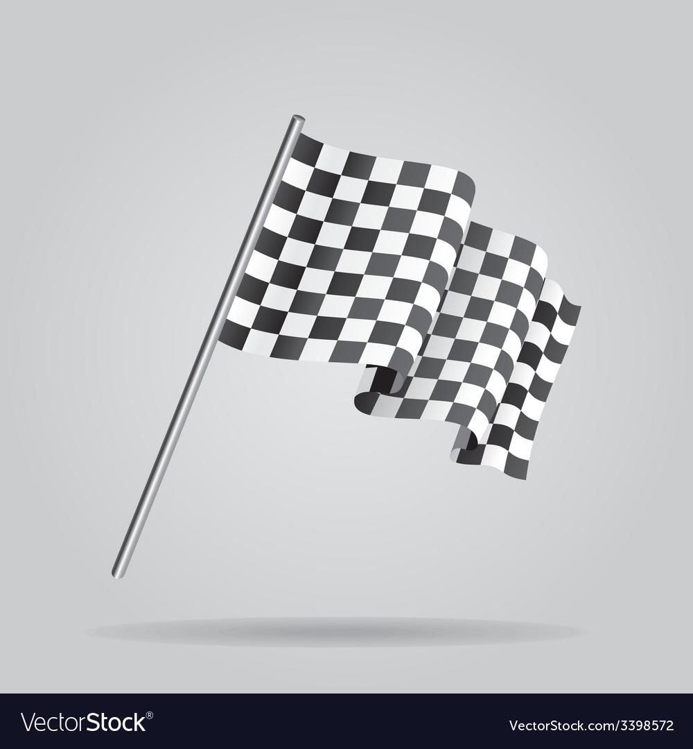 Waving Checkered racing flag