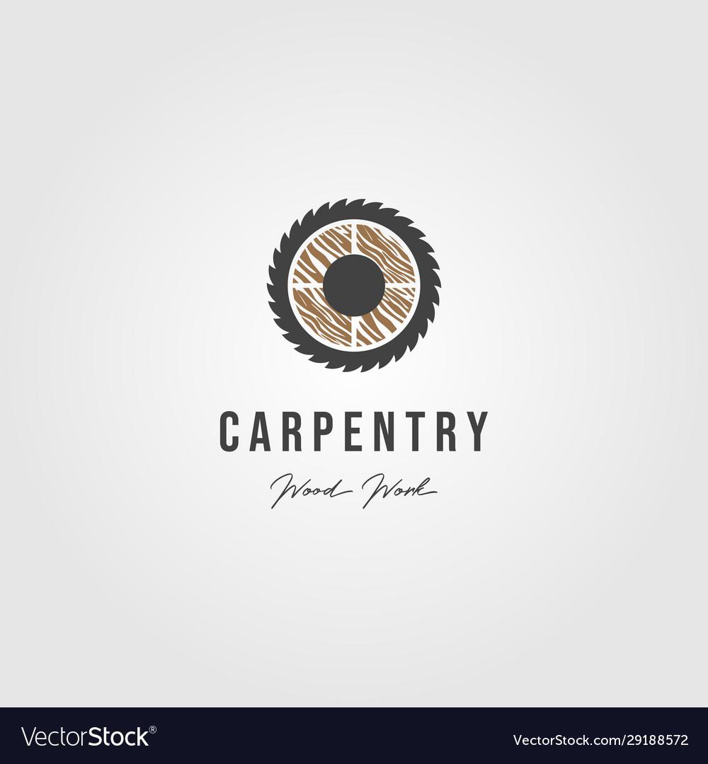 Wood grinding carpentry logo icon