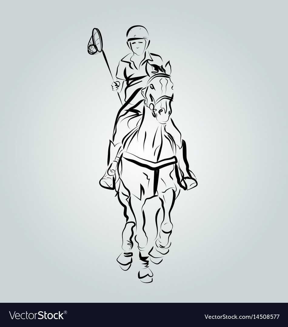 A polo cross player