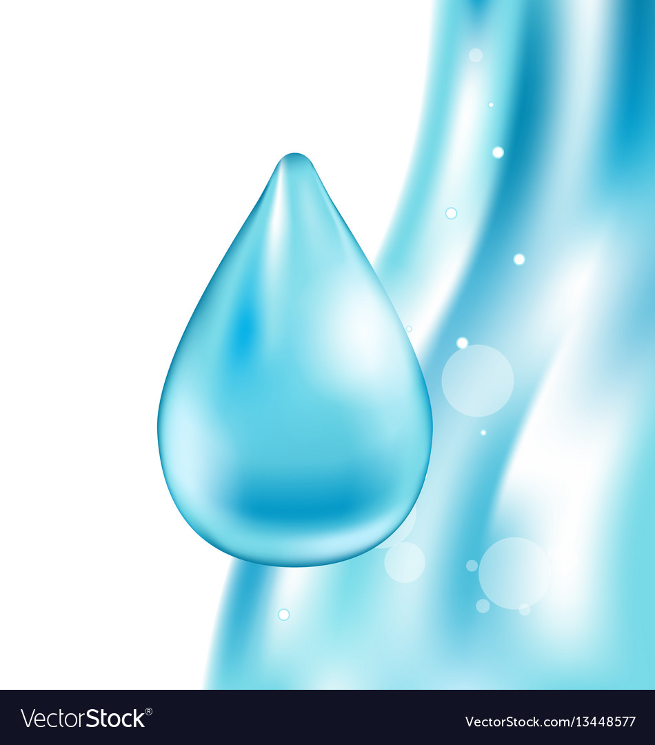 Abstract water wavy background with drop
