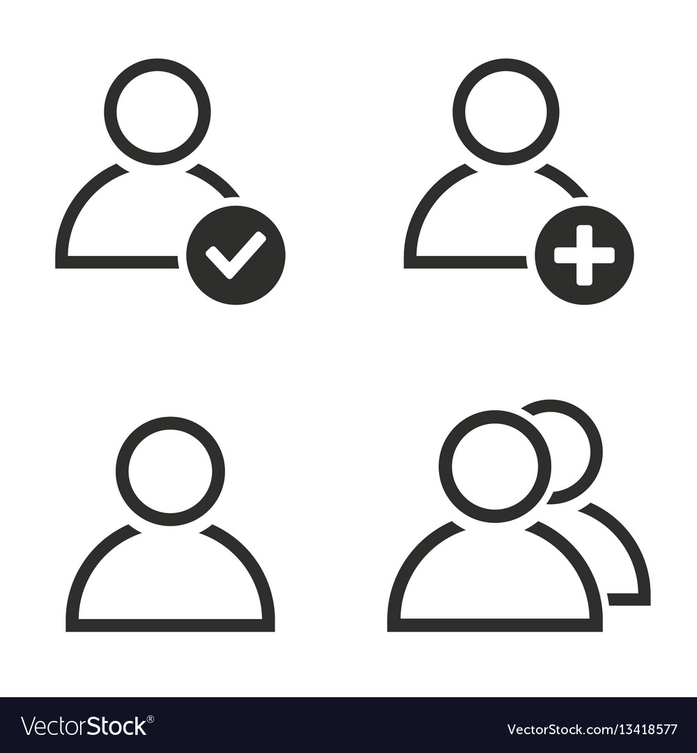 Account icon set vector image