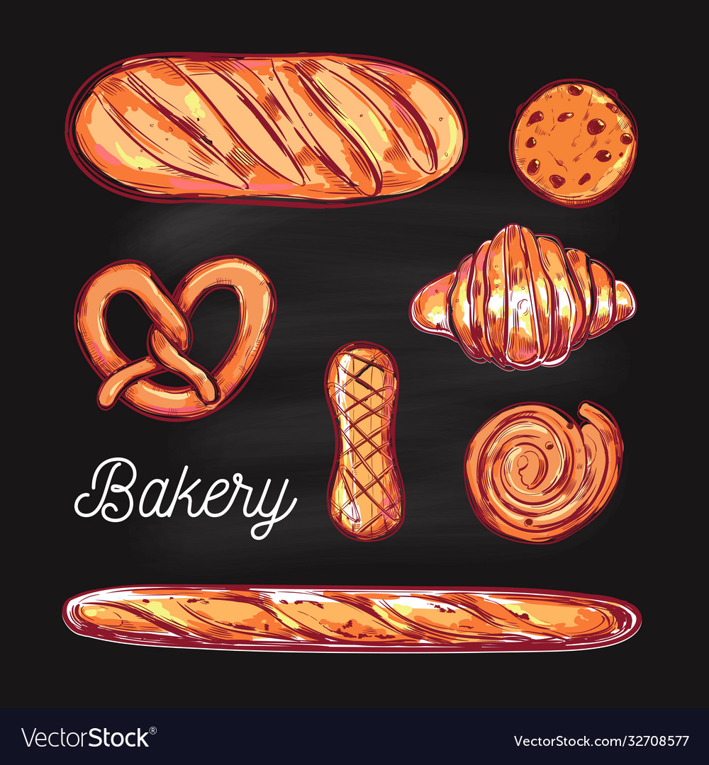 Bakery and bread colorful