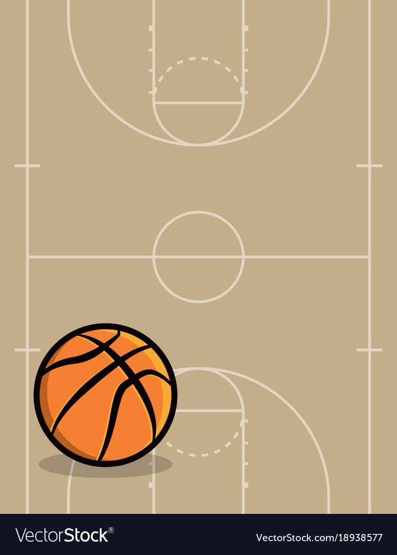 basketball ball and court background royalty free vector rh vectorstock com basketball court vector drawing basketball court vector free