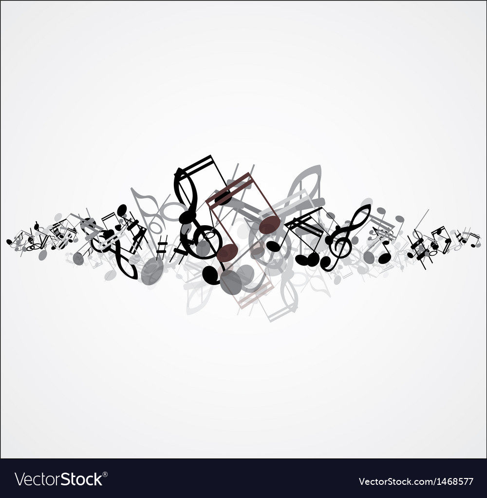 Beautiful music note background design vector image