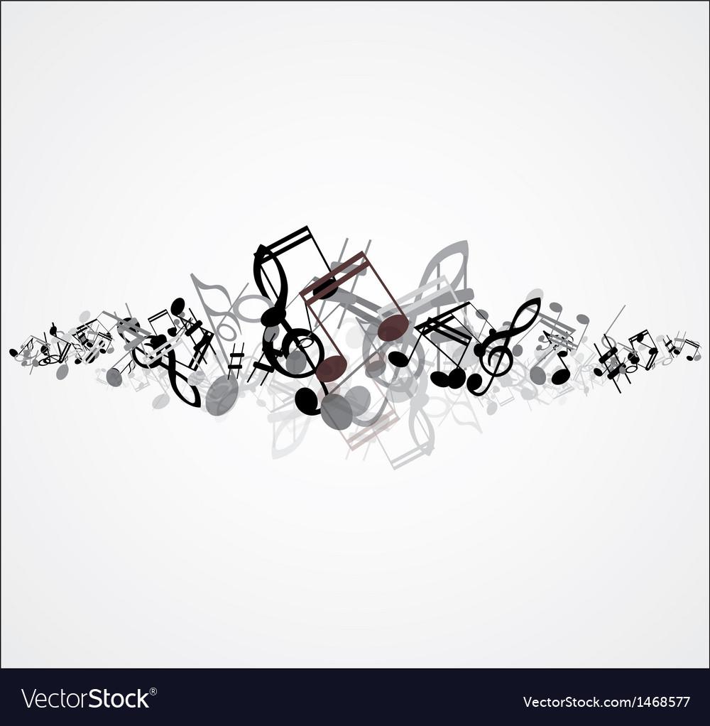 Beautiful music note background design