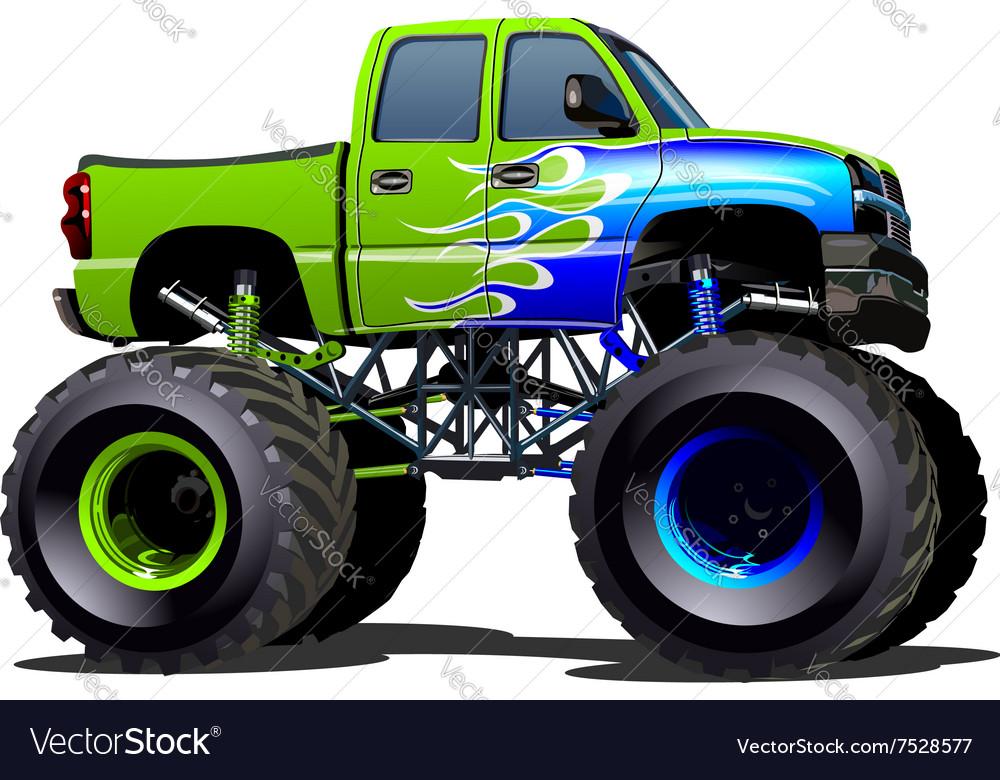 Cartoon Monster Truck Royalty Free Vector Image