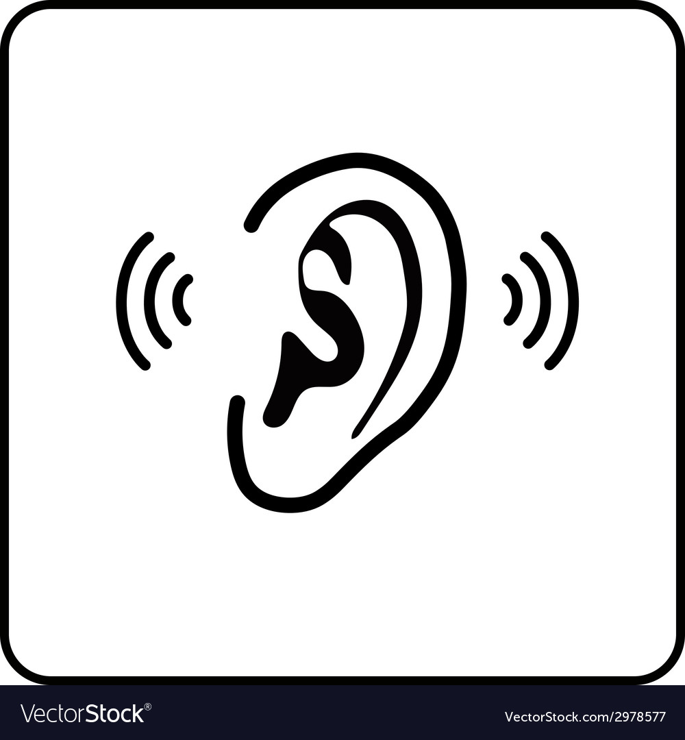 Ear sign - silhouette
