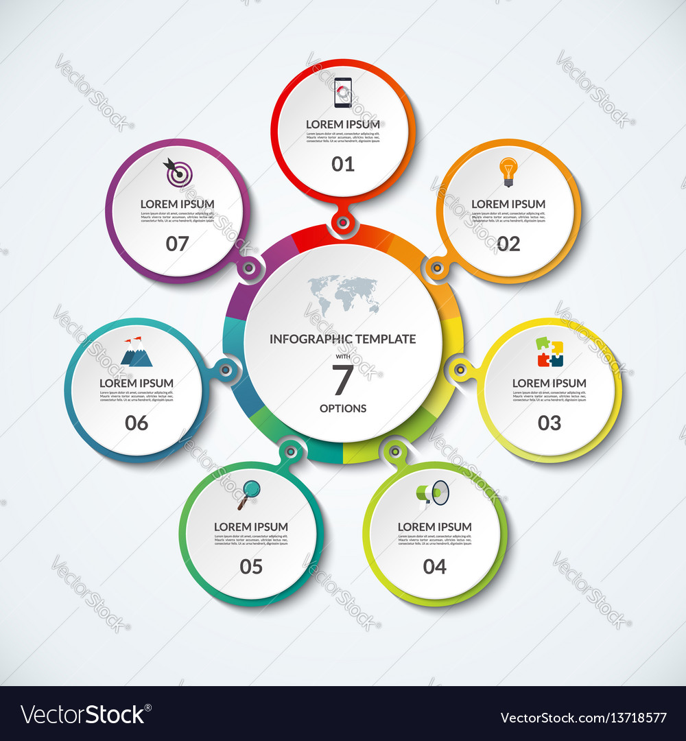 Infographic banner with 7 options vector image