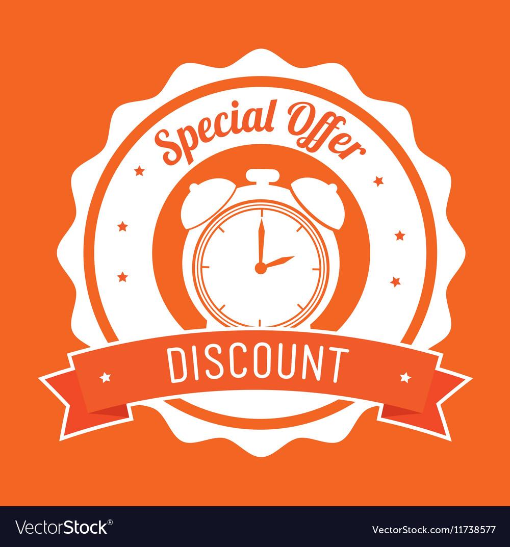 Special offer discount orange stamp banner